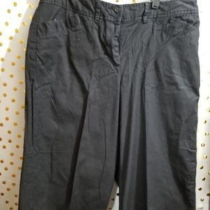 This a a black crop pair of pants
